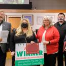 Wendy Strack poses with the City Council Beautification Committee